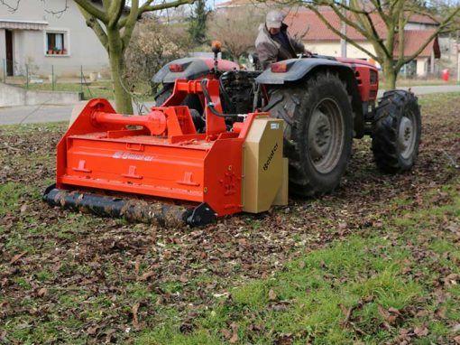 Trituradora TRISOL belafer con tractor same