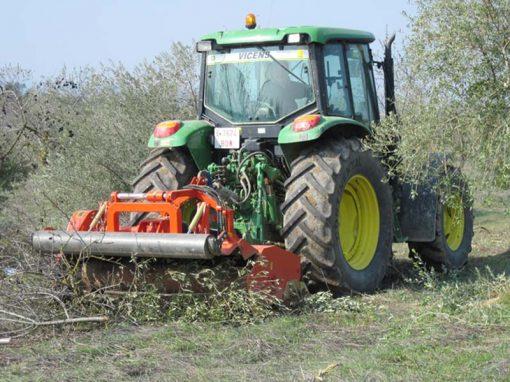 trituradora TRB-Raw trabajando olivar
